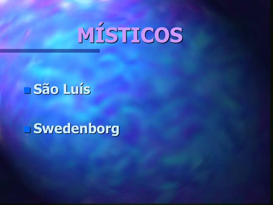 MÍSTICOS São Luís Swedenborg