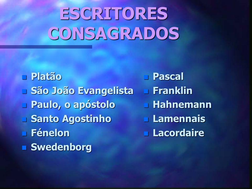 ESCRITORES CONSAGRADOS