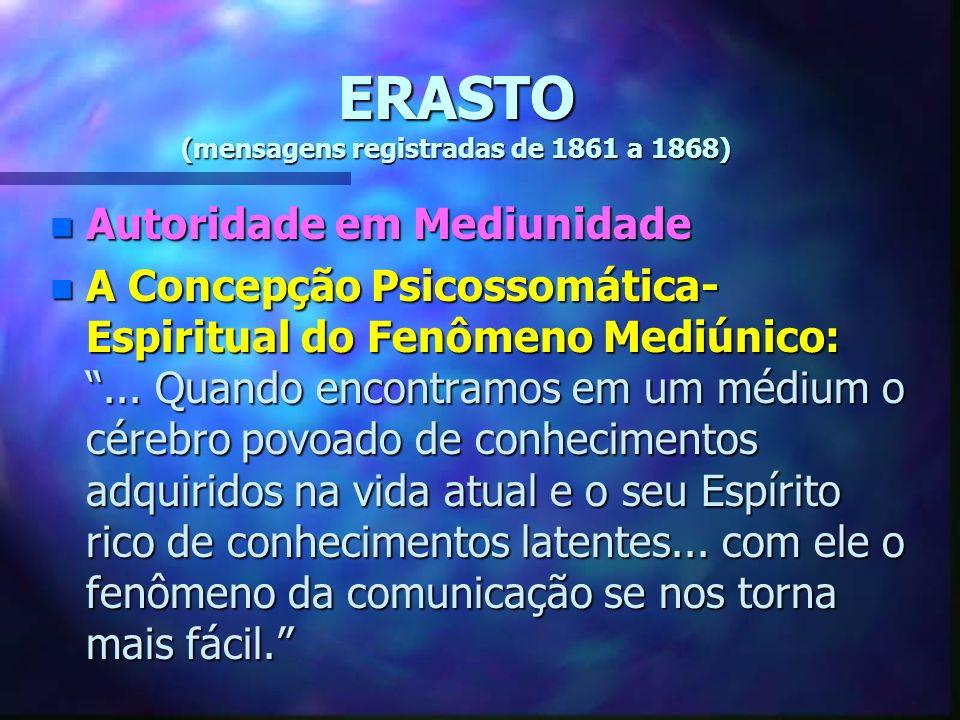 ERASTO (mensagens registradas de 1861 a 1868)