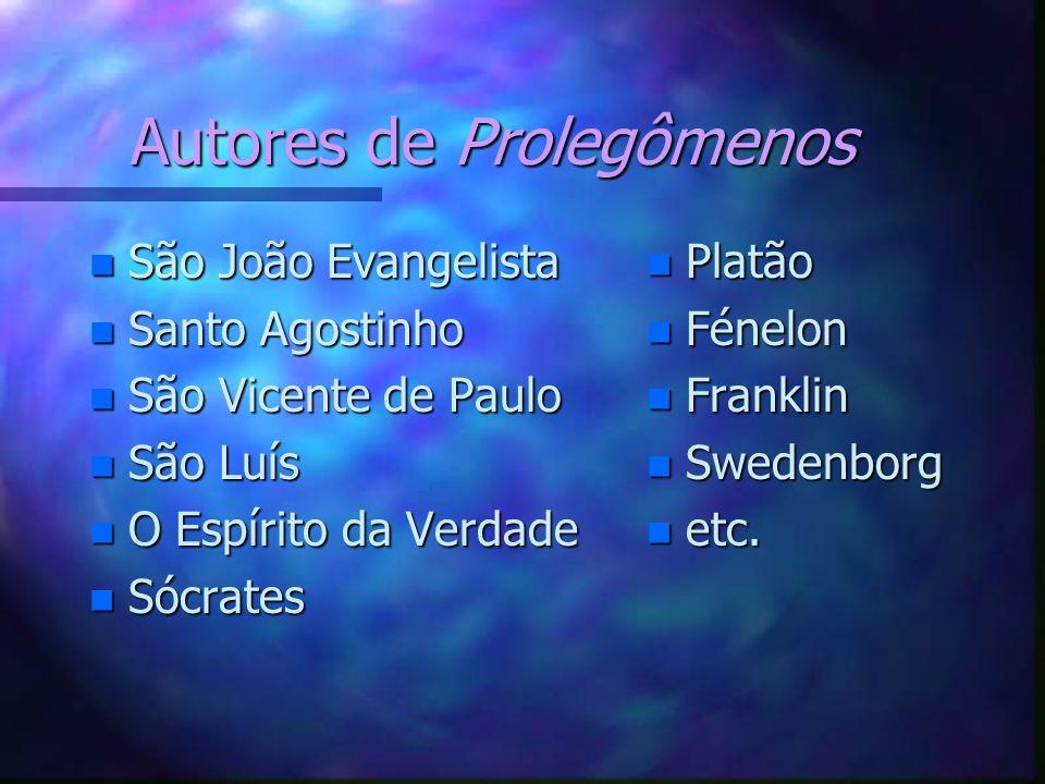 Autores de Prolegômenos