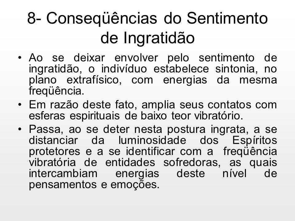 8- Conseqüências do Sentimento de Ingratidão