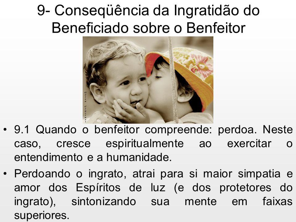 9- Conseqüência da Ingratidão do Beneficiado sobre o Benfeitor