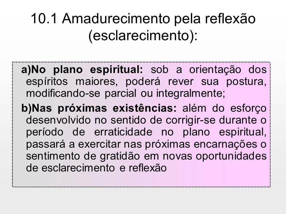 10.1 Amadurecimento pela reflexão (esclarecimento):
