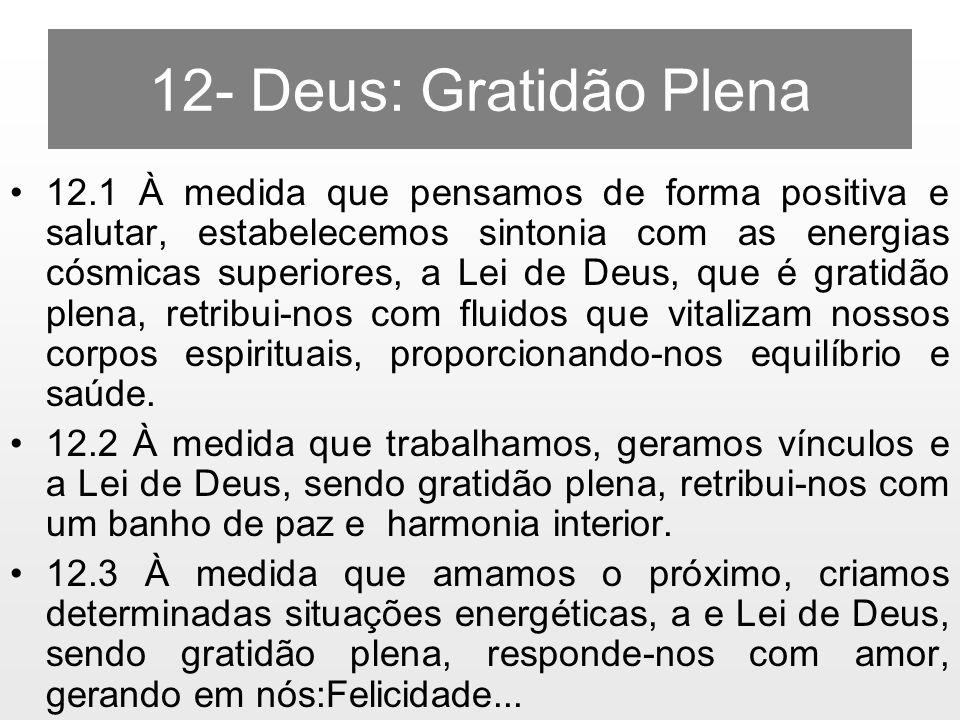 12- Deus: Gratidão Plena