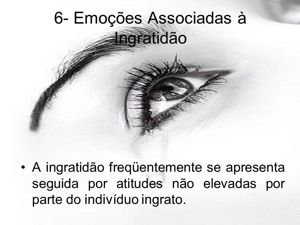 6- Emoções Associadas à Ingratidão