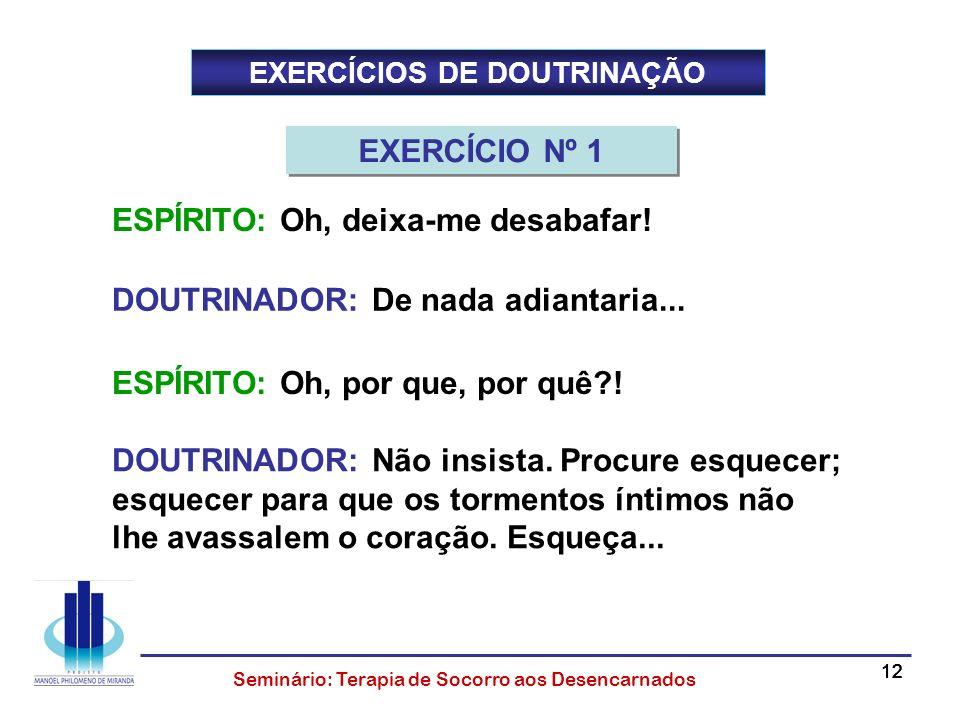 EXERCÍCIOS DE DOUTRINAÇÃO