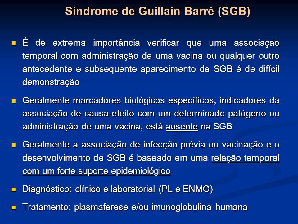 Síndrome de Guillain Barré (SGB)