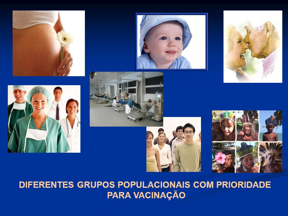 DIFERENTES GRUPOS POPULACIONAIS COM PRIORIDADE