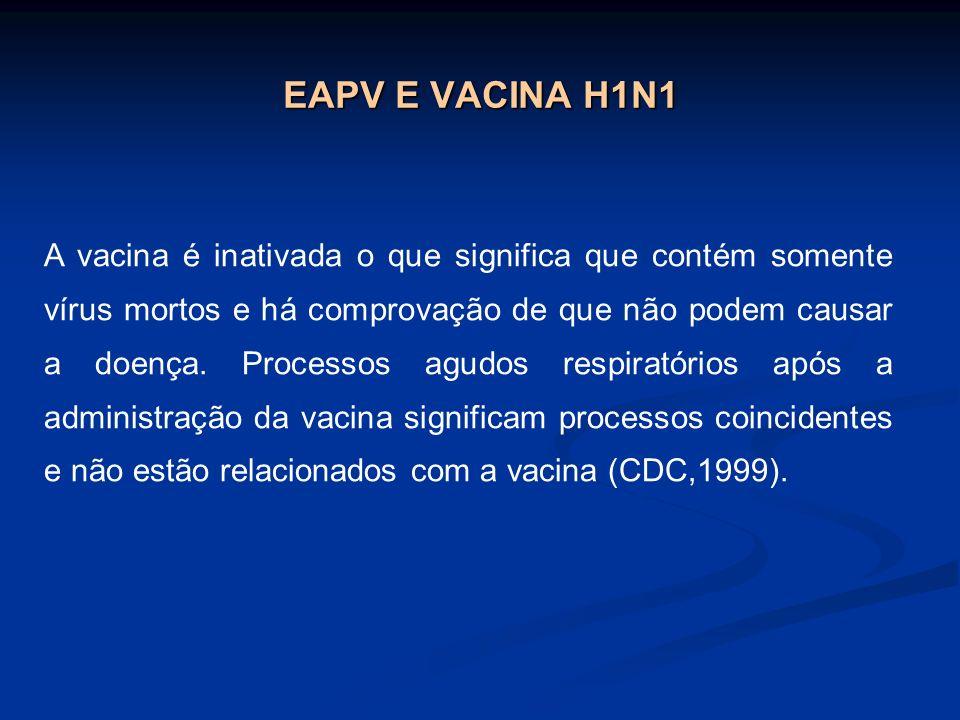 EAPV E VACINA H1N1