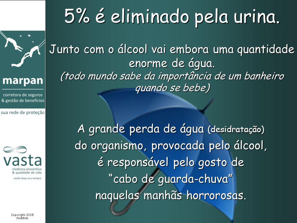 5% é eliminado pela urina.