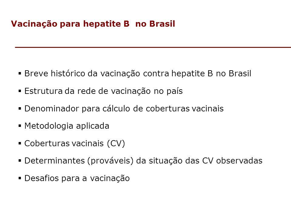 Vacinação para hepatite B no Brasil