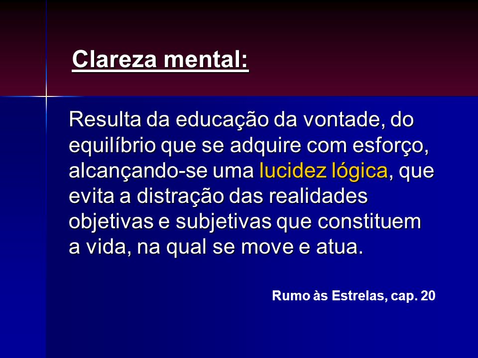 Clareza mental: