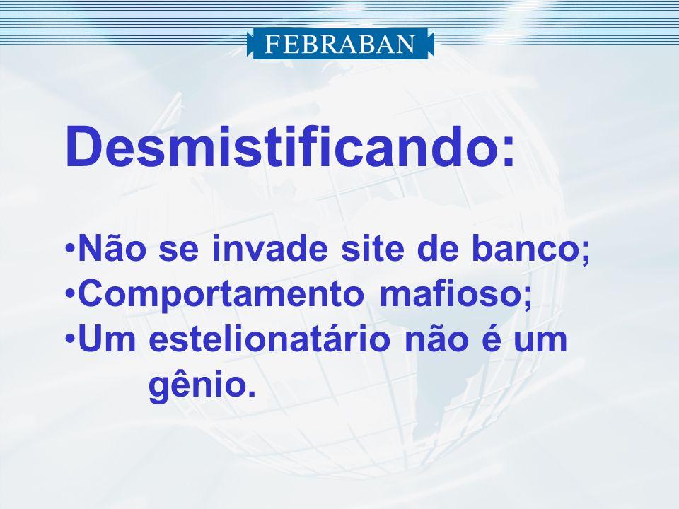 Desmistificando: Não se invade site de banco; Comportamento mafioso;