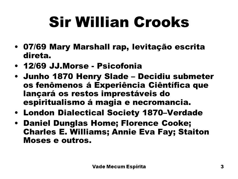 Sir Willian Crooks 07/69 Mary Marshall rap, levitação escrita direta.
