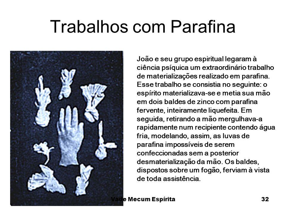 Trabalhos com Parafina