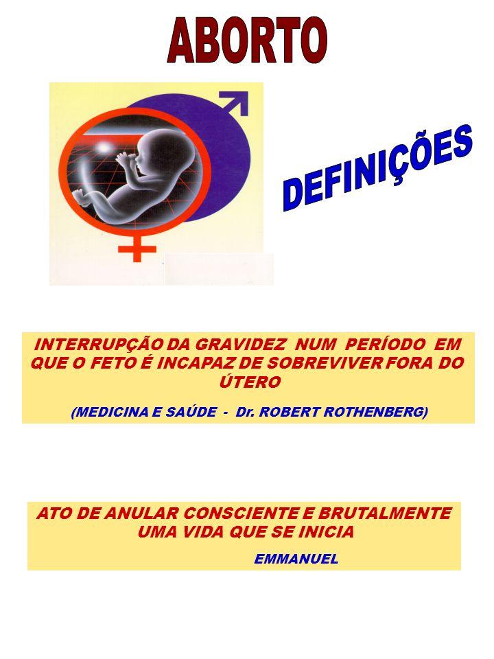 ABORTO DEFINIÇÕES INTERRUPÇÃO DA GRAVIDEZ NUM PERÍODO EM
