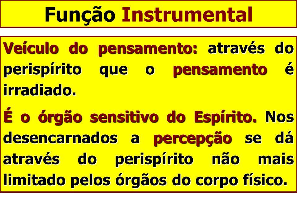 Função Instrumental Veículo do pensamento: através do perispírito que o pensamento é irradiado.