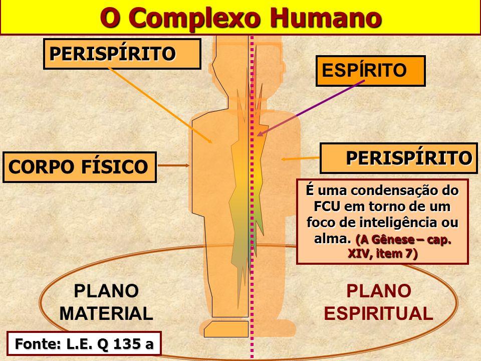 O Complexo Humano CORPO FÍSICO PERISPÍRITO ESPÍRITO PLANO MATERIAL