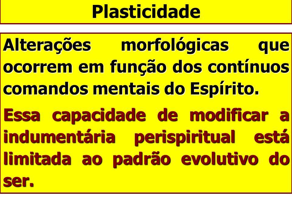 Plasticidade Alterações morfológicas que ocorrem em função dos contínuos comandos mentais do Espírito.