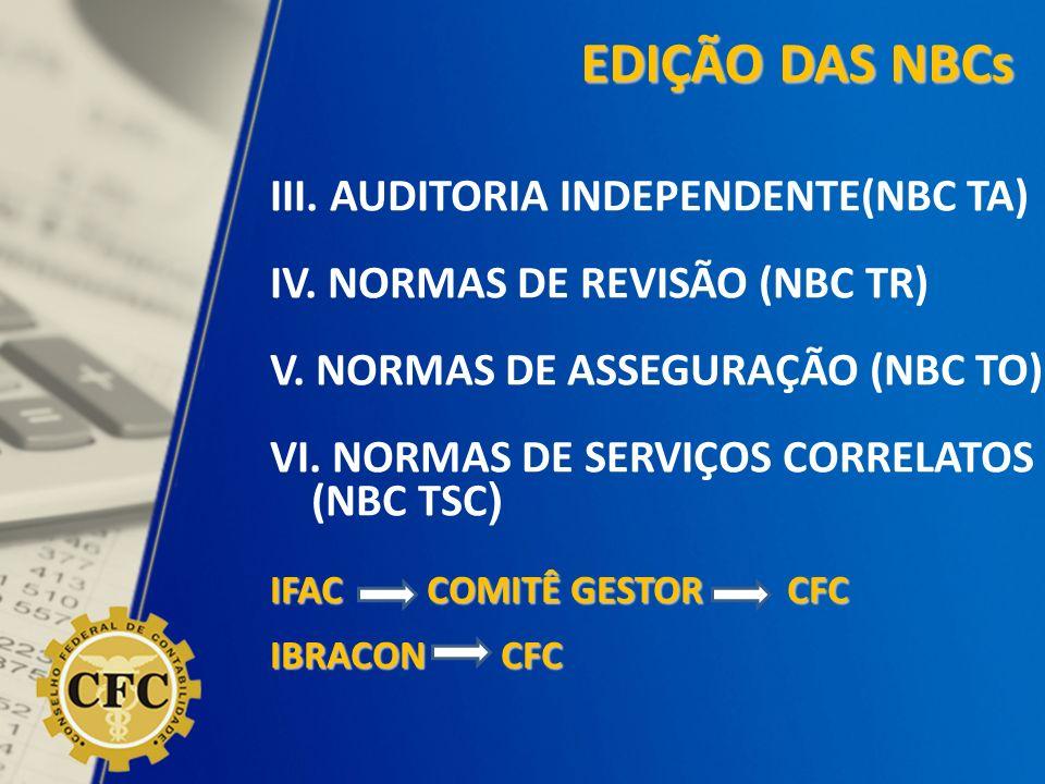 EDIÇÃO DAS NBCs III. AUDITORIA INDEPENDENTE(NBC TA)