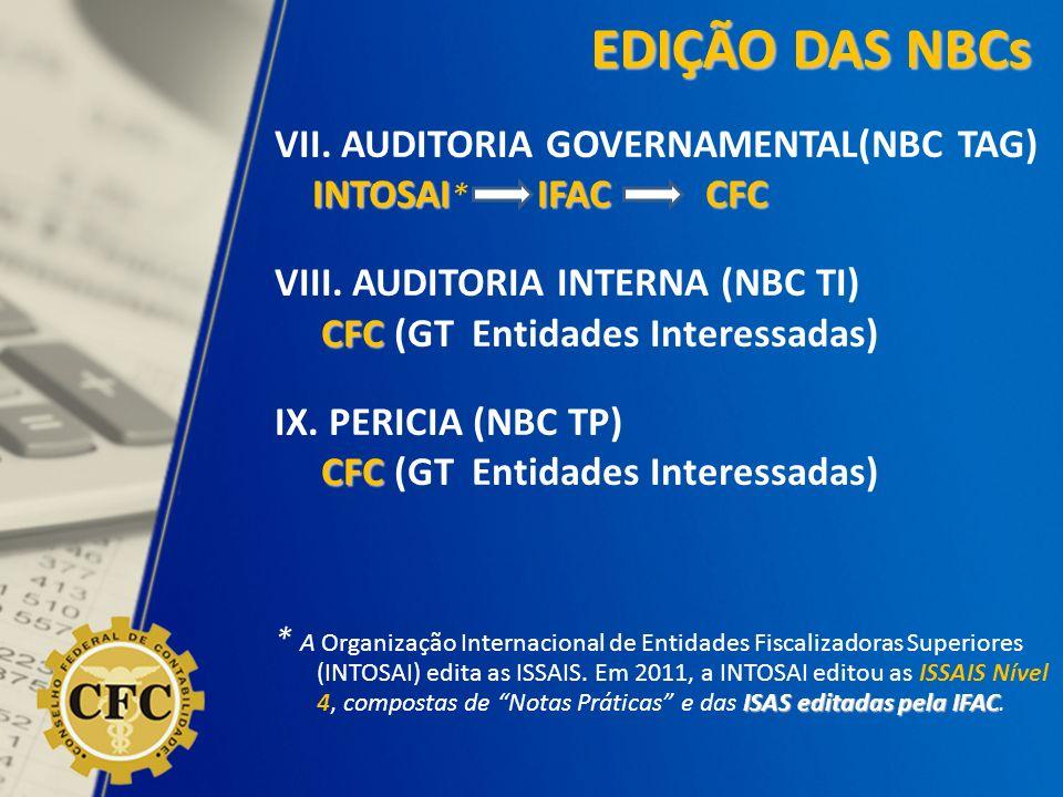 EDIÇÃO DAS NBCs VII. AUDITORIA GOVERNAMENTAL(NBC TAG)