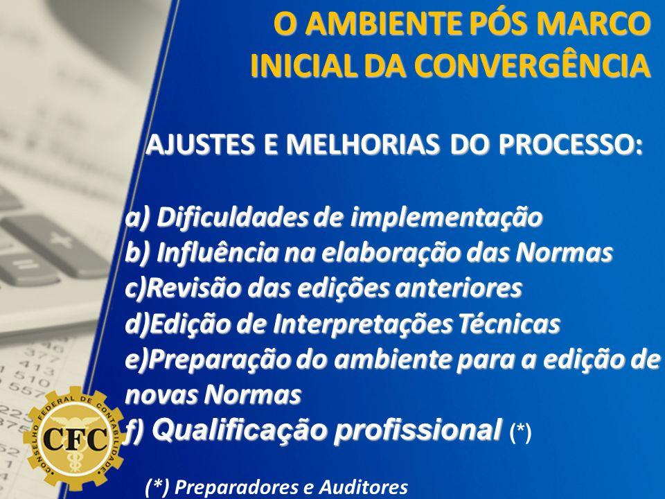 AJUSTES E MELHORIAS DO PROCESSO: