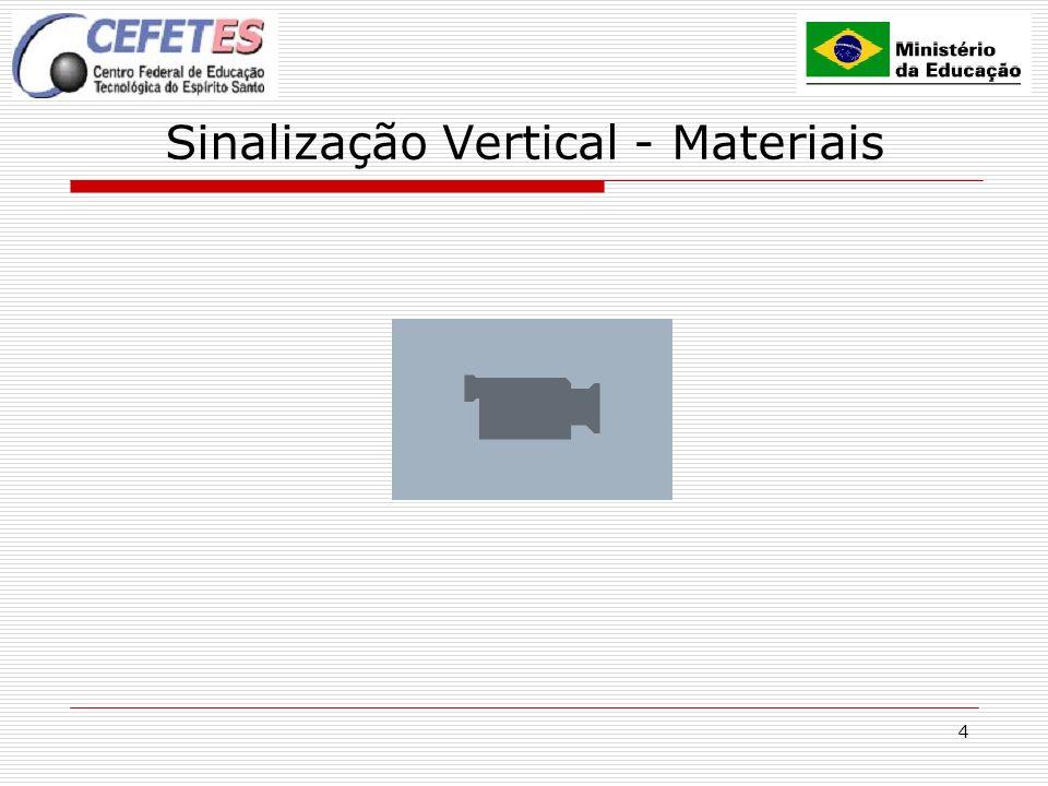 Sinalização Vertical - Materiais
