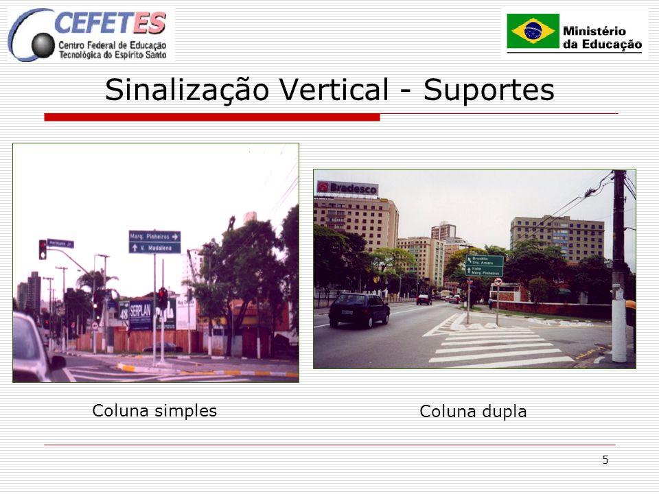Sinalização Vertical - Suportes