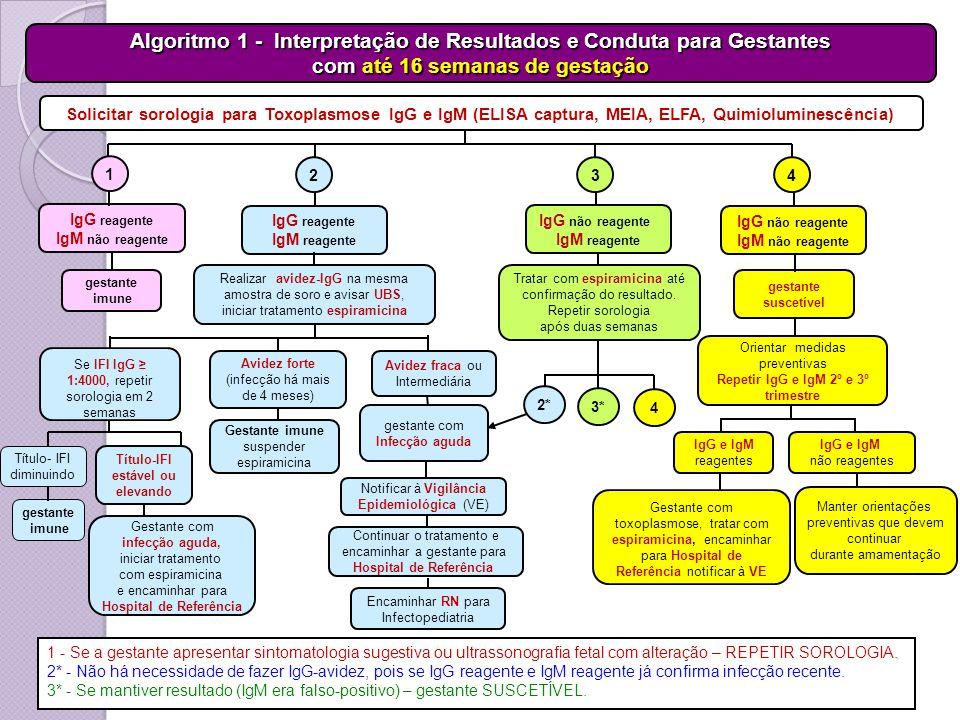 Algoritmo 1 - Interpretação de Resultados e Conduta para Gestantes