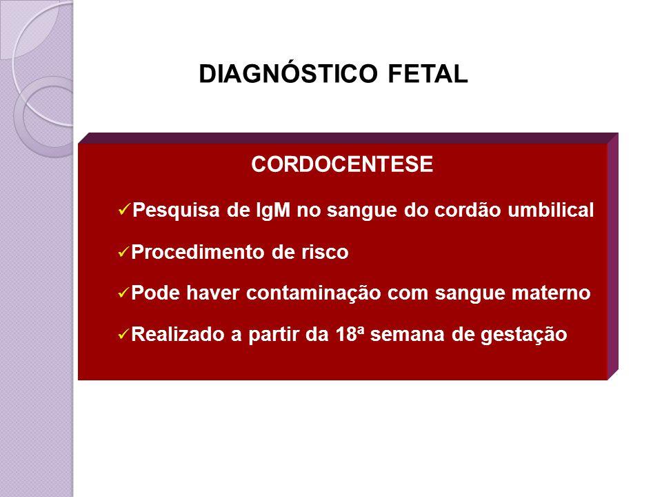 DIAGNÓSTICO FETAL CORDOCENTESE