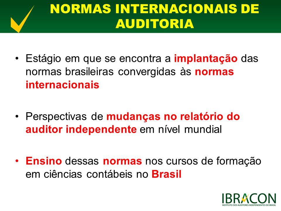NORMAS INTERNACIONAIS DE AUDITORIA