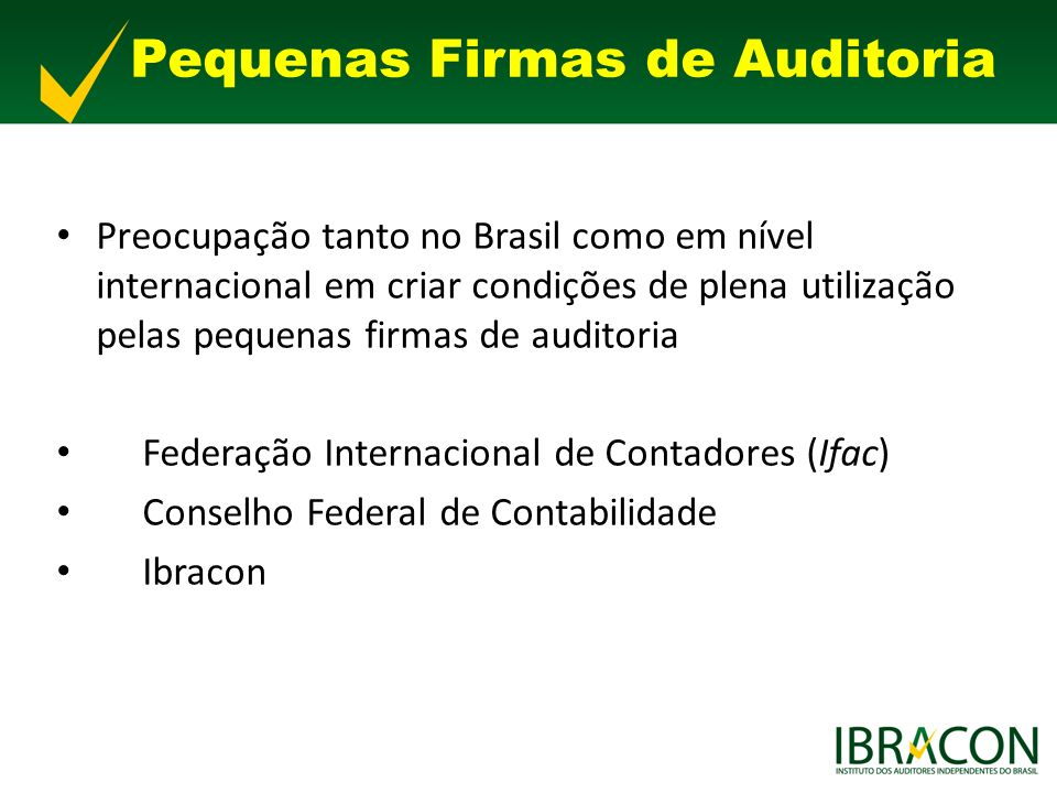 Pequenas Firmas de Auditoria