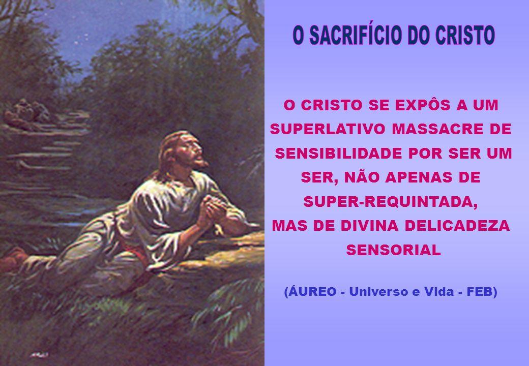 O SACRIFÍCIO DO CRISTO O CRISTO SE EXPÔS A UM SUPERLATIVO MASSACRE DE