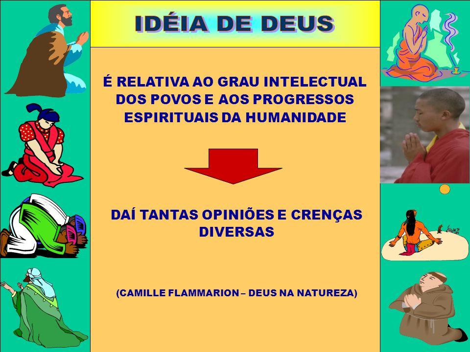 IDÉIA DE DEUS É RELATIVA AO GRAU INTELECTUAL