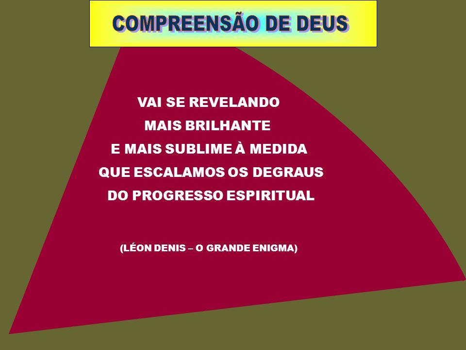 COMPREENSÃO DE DEUS VAI SE REVELANDO MAIS BRILHANTE