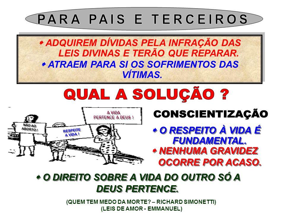 PARA PAIS E TERCEIROS QUAL A SOLUÇÃO CONSCIENTIZAÇÃO