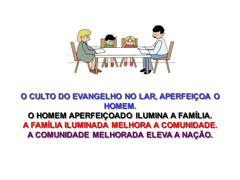 O CULTO DO EVANGELHO NO LAR, APERFEIÇOA O HOMEM.
