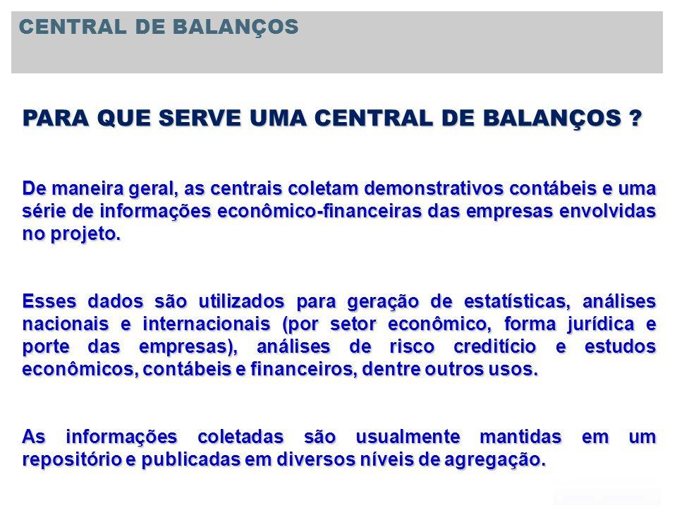 PARA QUE SERVE UMA CENTRAL DE BALANÇOS
