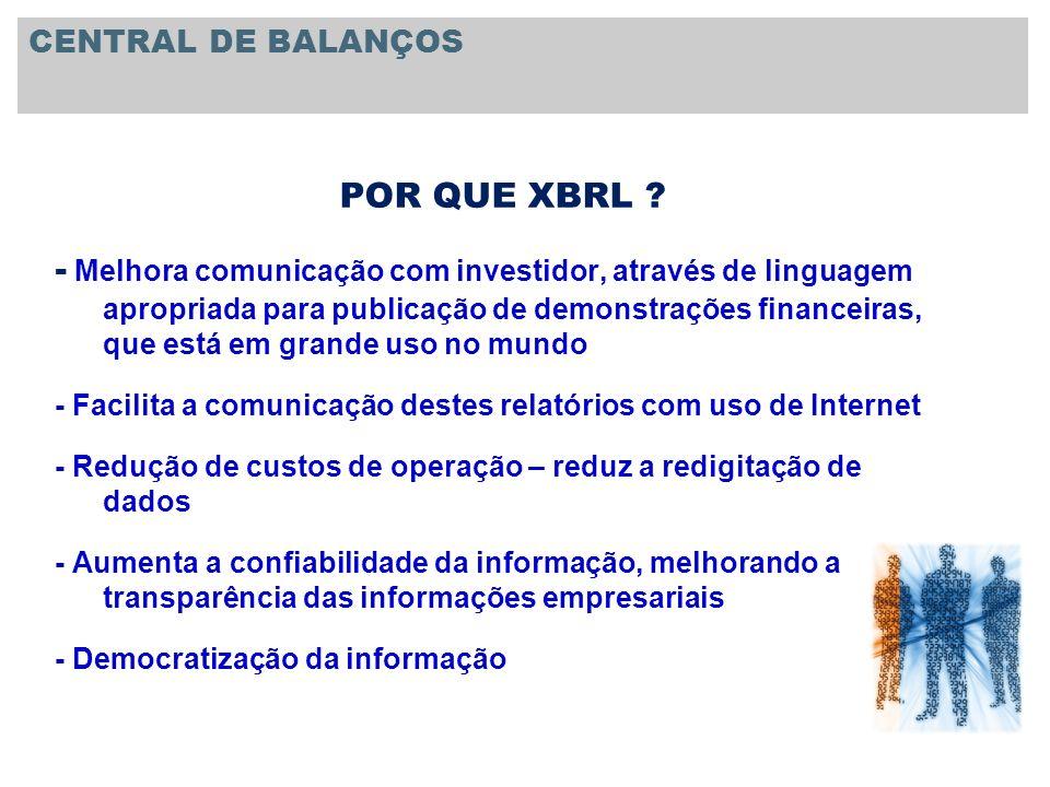 CENTRAL DE BALANÇOS POR QUE XBRL