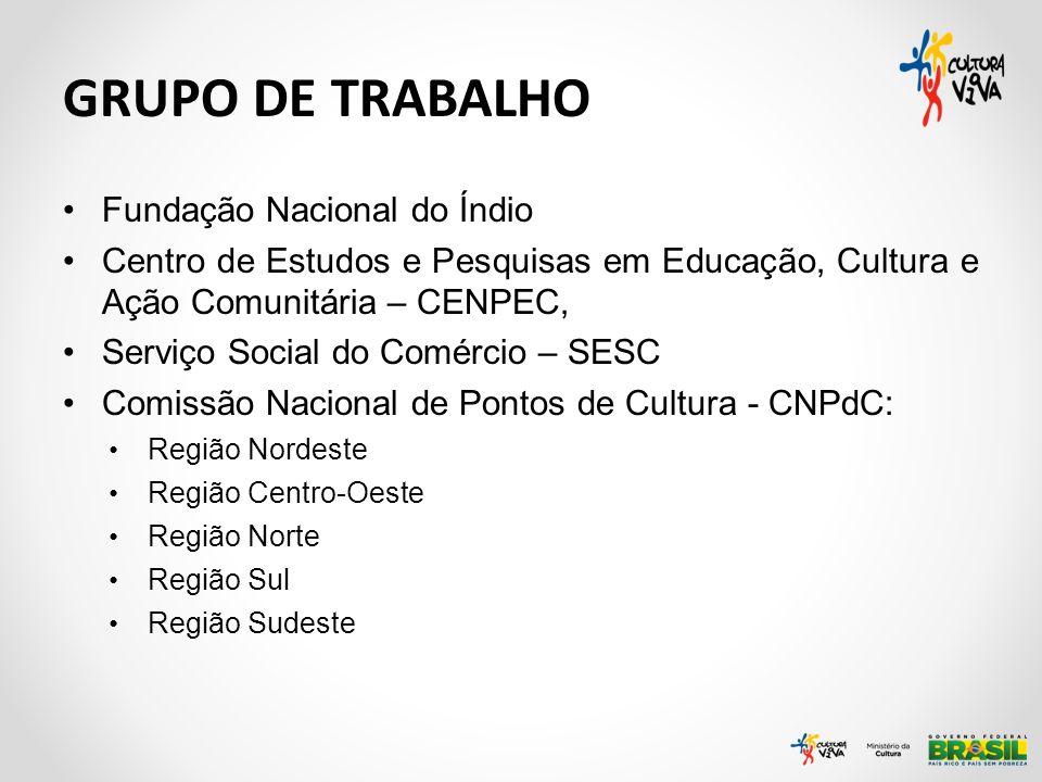 GRUPO DE TRABALHO Fundação Nacional do Índio