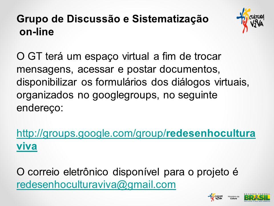 Grupo de Discussão e Sistematização on-line