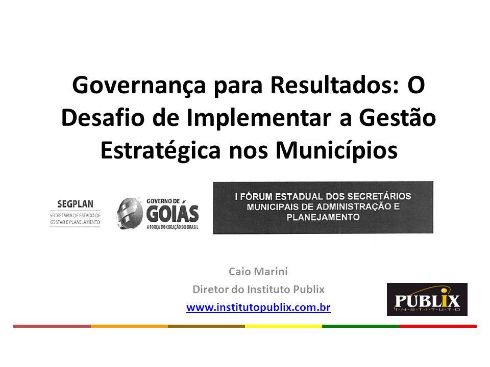 Caio Marini Diretor do Instituto Publix www.institutopublix.com.br