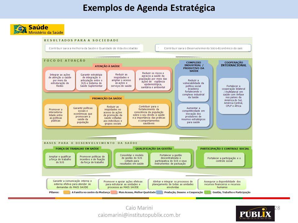Exemplos de Agenda Estratégica