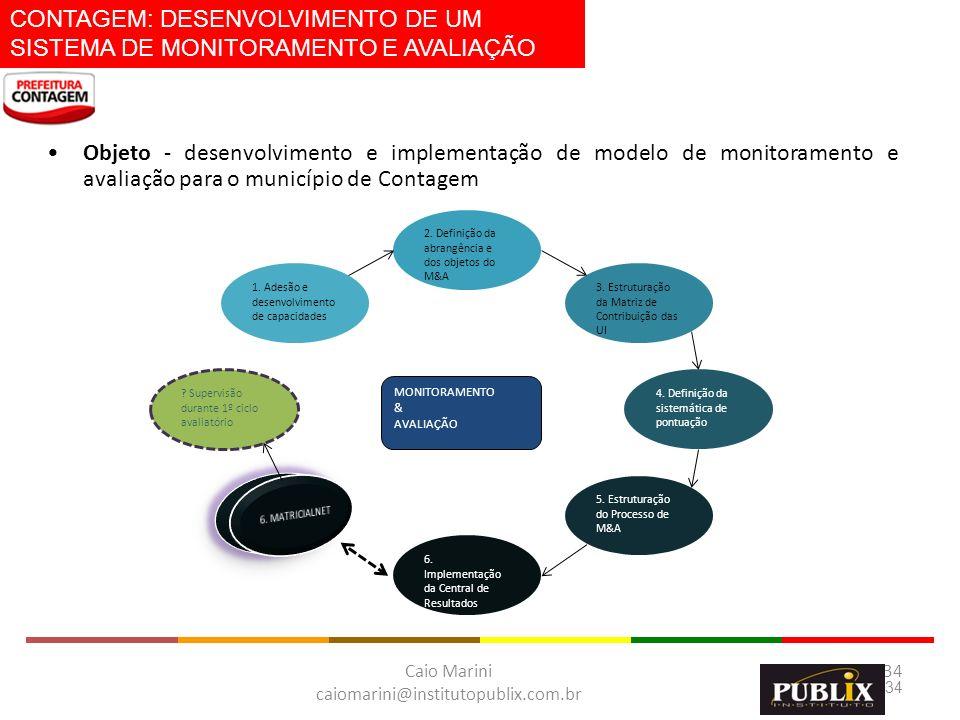 CONTAGEM: DESENVOLVIMENTO DE UM SISTEMA DE MONITORAMENTO E AVALIAÇÃO