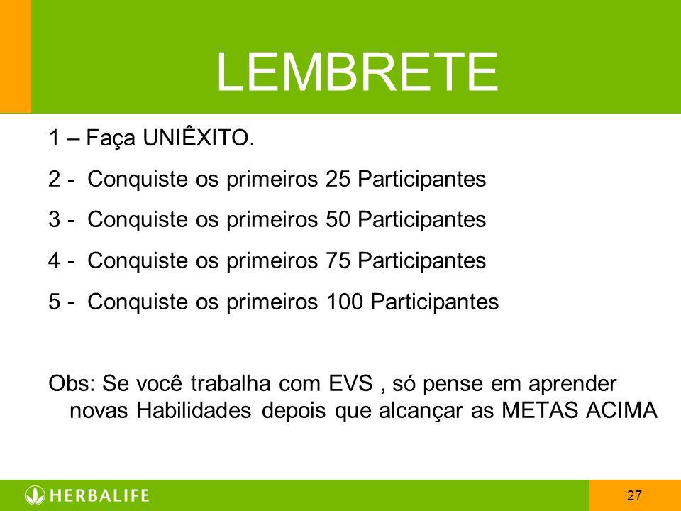 LEMBRETE 1 – Faça UNIÊXITO.