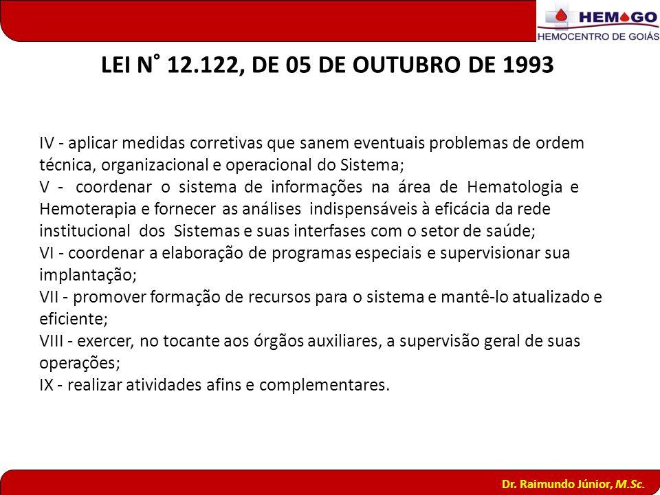 LEI N° 12.122, DE 05 DE OUTUBRO DE 1993