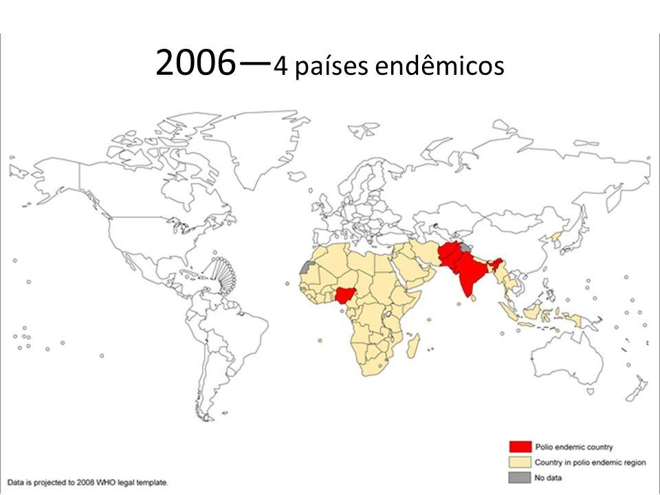 2006—4 países endêmicos