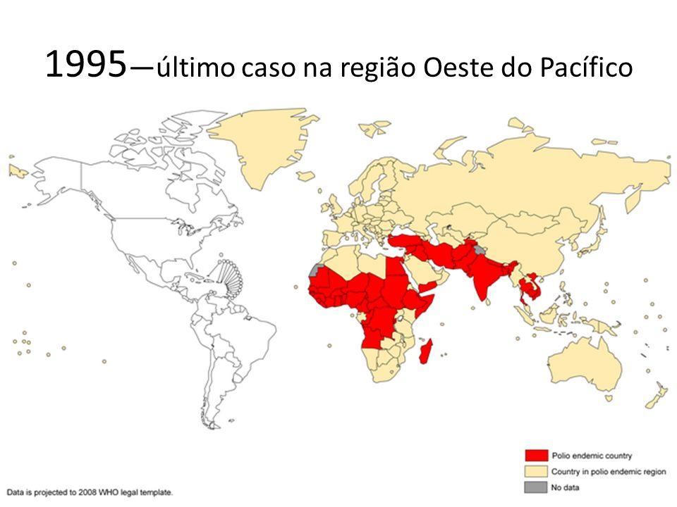 1995—último caso na região Oeste do Pacífico