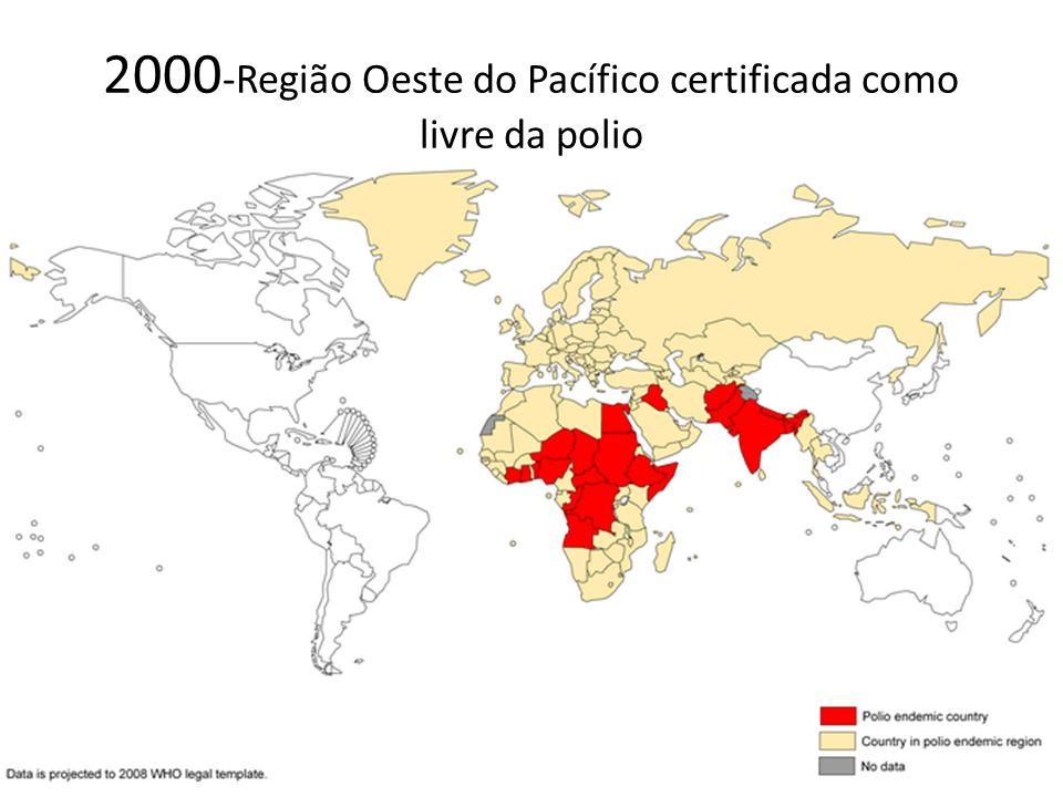 2000-Região Oeste do Pacífico certificada como livre da polio