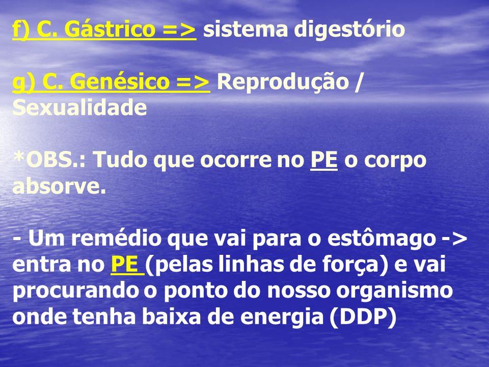 f) C. Gástrico => sistema digestório